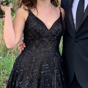 La Femme prom dress ball gown